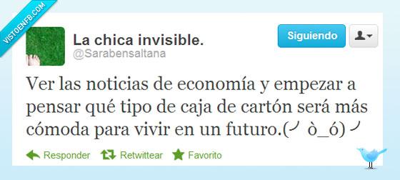 bajo un puente,caja,carton,Crisis,economía,noticias,Rajoy