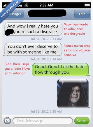 conversación,lado oscuro,odio