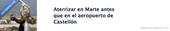 aeropuerto castellon,aterrizar,curiosity,facebook,marte