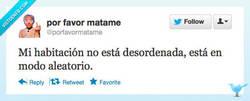 Enlace a No es desorden por @porfavormatame