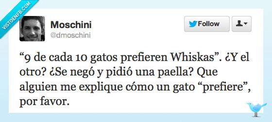 10,9,dmoschini,gatos,humor,paella,prefiere,twitter,whiskas