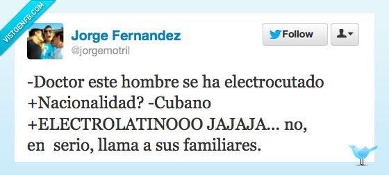 cuba,cubano,doctor,electrocutado,electrolatino,familiar,muerto,nacionalidad