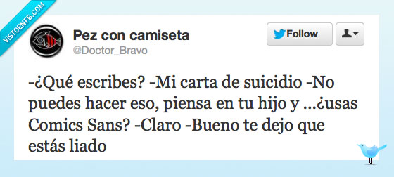 Comic Sans,Nota,Suicidio,Twitter