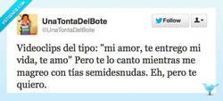 Enlace a Pero que quede claro que te quiero, ¡eh! por @UnaTontaDelBote
