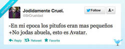 Enlace a Los pitufos por @SrCrueldad