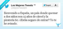 Enlace a España, promoviendo la justicia por @mejorestweetsES