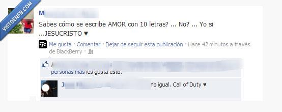 amor,call of duty,chorrada,cod,jesucristo,letra