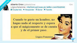Enlace a Lógica femenina por @AlbertoCow