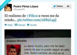 Enlace a El realismo de #Fifa12 por @PedritoP6