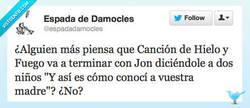 Enlace a El final de Juego de Tronos por @espadadamocles