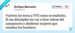 Enlace a Es tradición por @ebarrueco