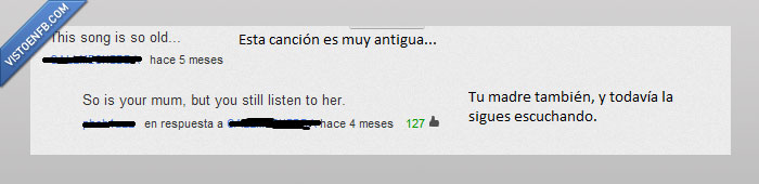 canción youtube pwned comentario likes