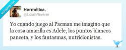 Enlace a Adele y el Pacman por @LidiaInReverse