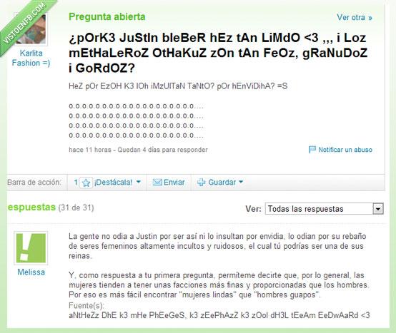 believer,Justin Bieber,metal,Respuestas,troll,Yahoo,Yahoo! Respuestas