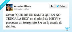Enlace a Terremoto en Telecinco por @amador_lqsa