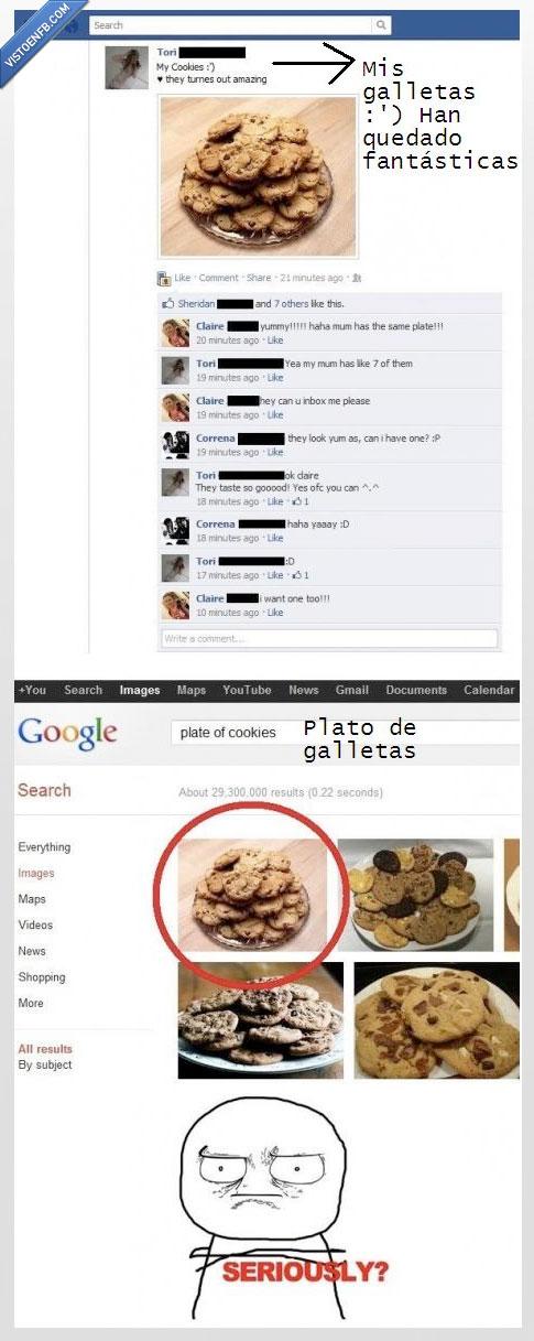 busqueda,chica,de verdad,galletas,google,primera,resultado,se cree que somos tontos,seriously,vef