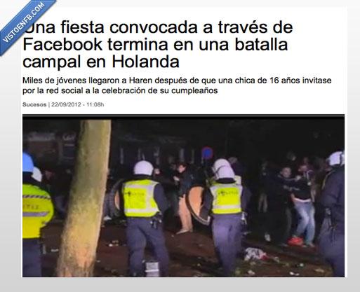 disturbios,fail,fiesta,holanda,invitados,policia,pública