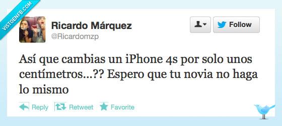 apple,centimetros,fail,iphone 5,novia,nuevo,twitter