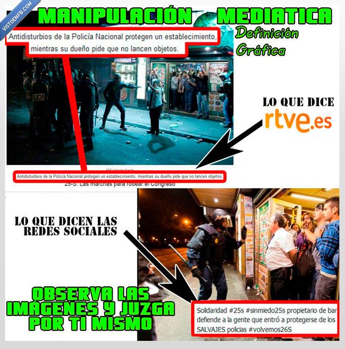antidisturbios,ataca,manifestacion,Manipulación,PP,protege