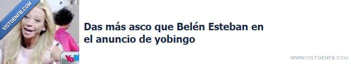 asco,belen esteban,burla,facebook,salvame,yobingo