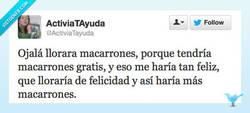 Enlace a Si llorara macarrones por @ActiviaTayuda