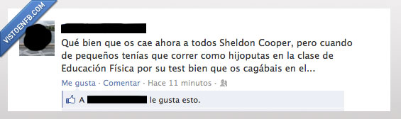 clase,correr como perros,educacion fisica,pequeño,sheldon cooper,tbbt,test de couper,the big bang theory