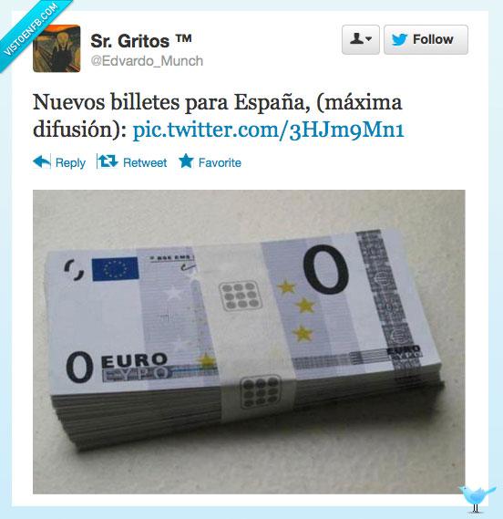Nuevos billetes para España