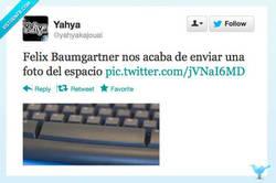 Enlace a Felix Baumgartner nos acaba de enviar una foto por @yahyakajouai