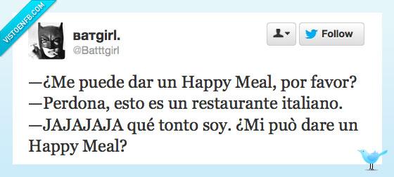 Comida,Hamburguesa,Italiano,McDonalds,Restaurante