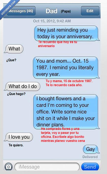 aniversario,olvidar,papa,recordar,tonto