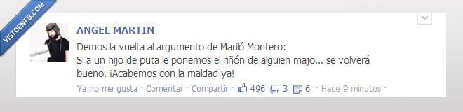 Angel Martin,Crack,Donar,Estado,Facebook,Mariló Montero