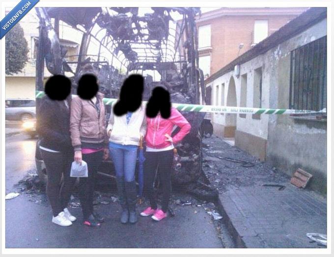 Autobús,foto,quemado,tuenti