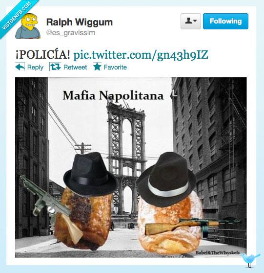 mafia,napolitana,pasta,polica,twitter