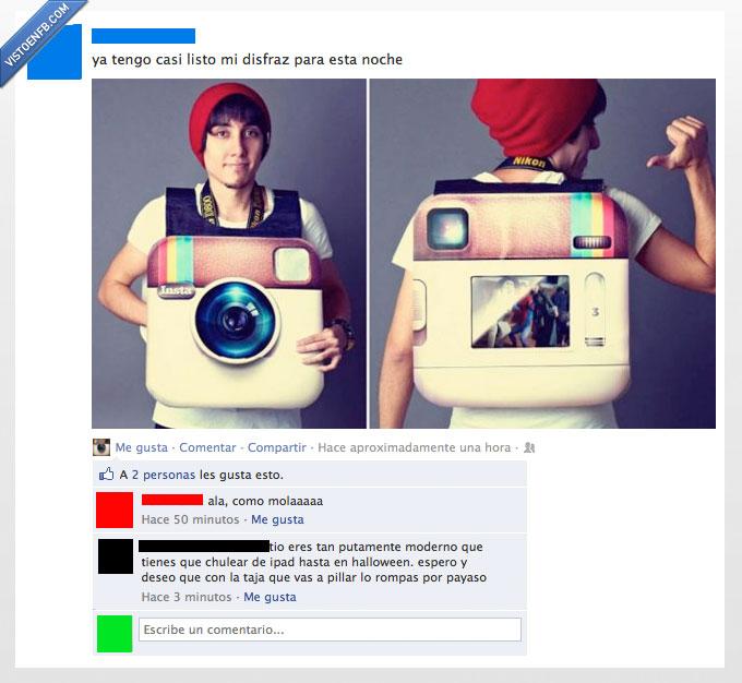 disfrazm ipad,foto,halloween,instagram,noche,payaso,romper