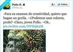 Enlace a Examen de creatividad, por @pollo_az_