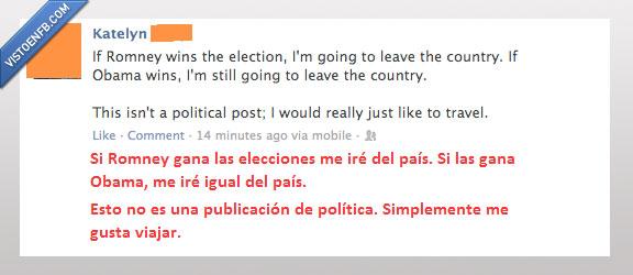 elecciones,free,Obama,pais,romney,USA,viajar
