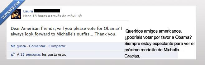 american friend,americano,amigo,michelle,modelito,obama,outfit,votar,vote