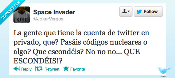 cuenta,misiles nucleares,privado,twitter