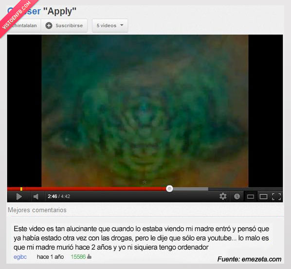 Alucinante,Droga,Madre,Ordenador,Video,youtube