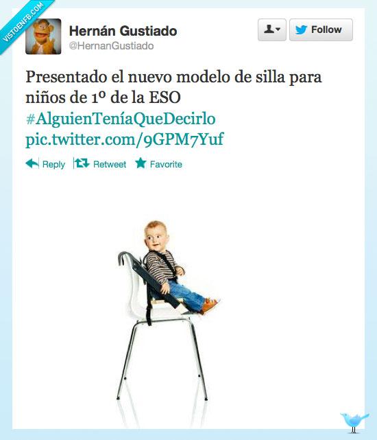 bebe,ESO,Niños,pequeños,silla,sillita,Twitter