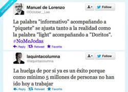Enlace a Twitter y la Huelga por @mr_superficial, @mrwinters, @valentisanjuan, @laquintacolumna
