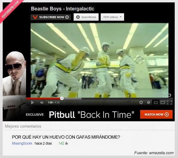 anuncio,beastie boys,gafas,huevo,mirandome,pitbull,publicidad,skin,youtube