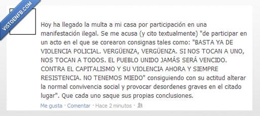 estado,facebook,injusticia,manifestación,multa,sociedad,wtf