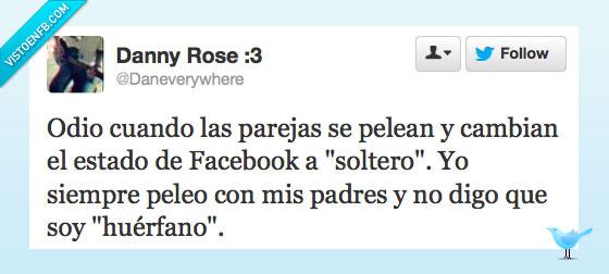 Facebook,huerfano,Novios,padre,soltero,Tweet