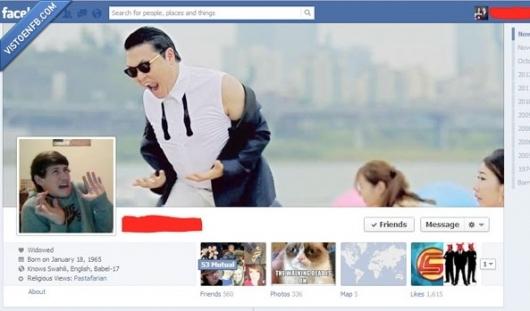 facebook,foto,Gangnam style,portada,Psy
