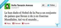 Enlace a Nobel de la paz... sí... por @sofix217
