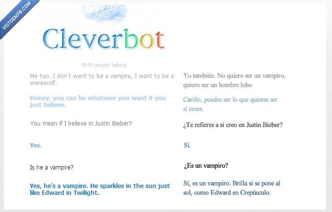 cleverbot,crepusculo,justin bieber,twilight,vampiro