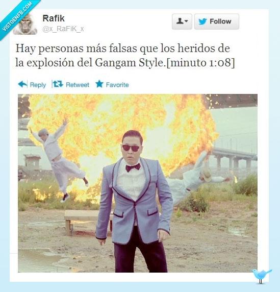 actores,bomba,explosion,fake,falsa,gangam style,muerte