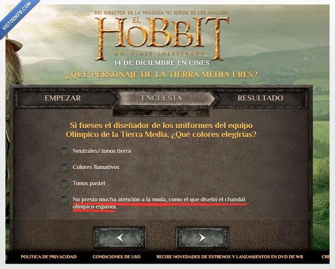 atencion,chandal,cuestionario,el hobbit,encuesta,hobbit,hortera,moda,olimpiadas