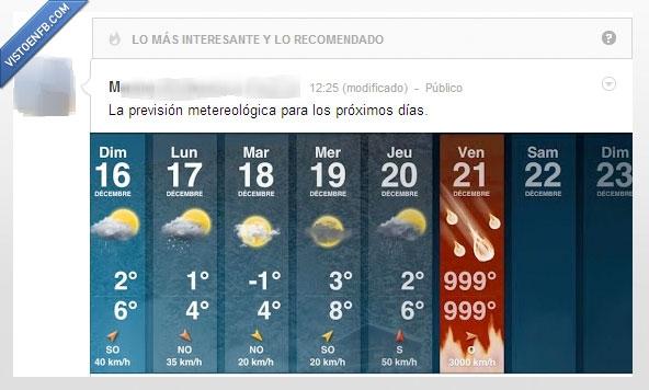 21 de diciembre,clima,fin del mundo,Google+,pronostico